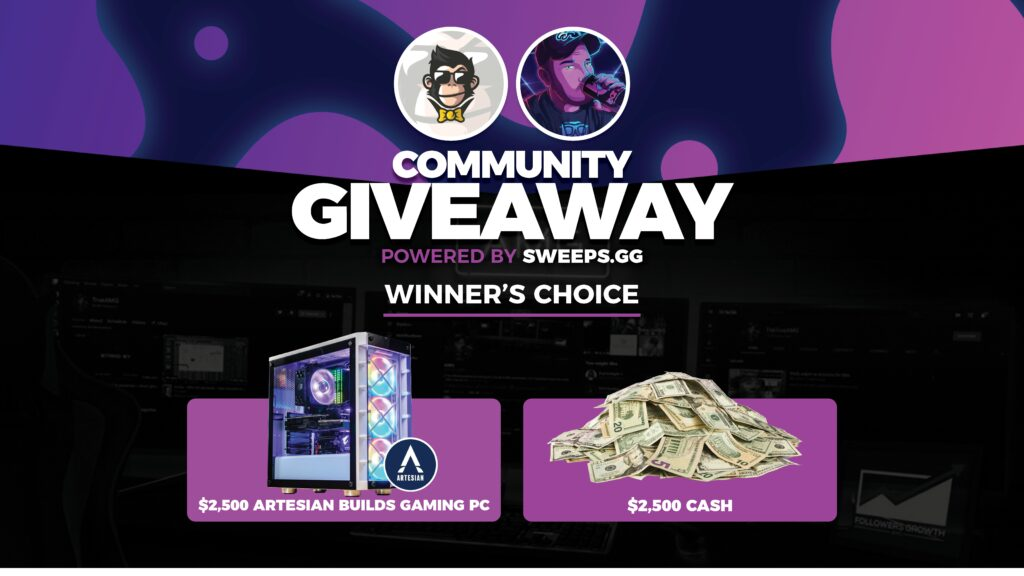 $2,500 Gaming PC or $2,500 Cash Giveaway - SWEEPS.GG