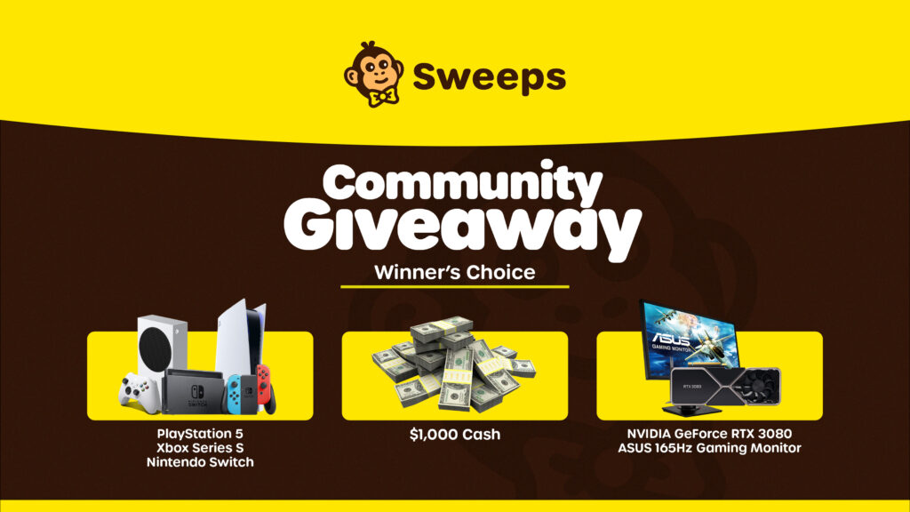 online contests, sweepstakes and giveaways - $1,000 Winner's Choice Community Giveaway - Sweeps